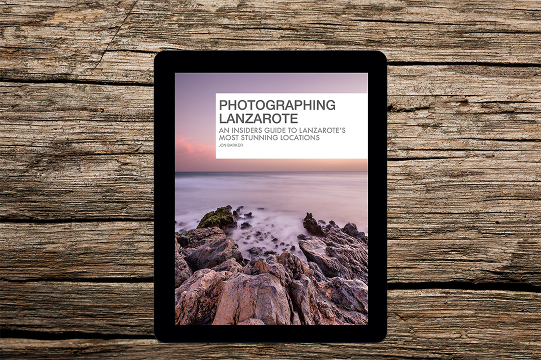 Photographing Lanzarote eBook being used on an Apple iPad