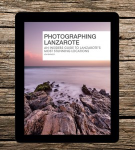 Photographing Lanzarote eBook on iPad